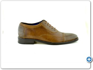 112-76143 Cognac Inj Leather Sole Side