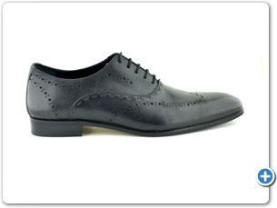 11419 Black Inj. Leather Sole Side