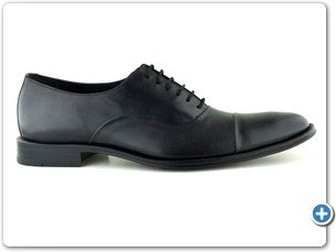14219 Black Antic Inj Leather Sole Side