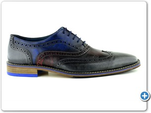 14737 Grey Red Blue Zeugma Inj Leather Sole Side