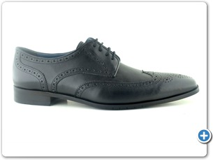14738 Black antic Inj Black Leather Sole Side