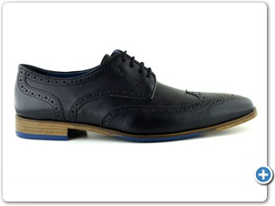 14738 Black Antic Inj Leather Sole Side