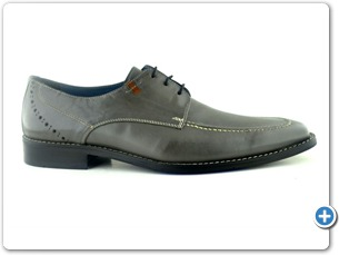 14739 Grey Antic Inj Black Leather Sole Side