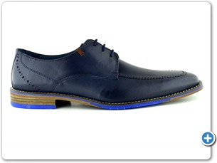 14739 Navy  Antic Inj Leather Sole Side