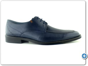 14739 Navy Antic Inj Black Leather Sole Side