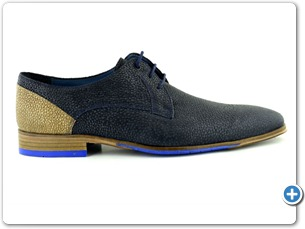 14748 Navy Meteor Inj Leather Sole Side