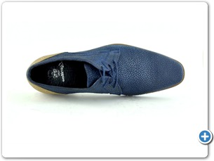 14748 Navy meteor Inj Leather Sole Top