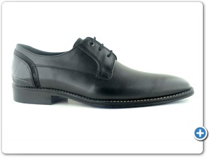 14754 Black Antic Inj Black Leather Sole Side