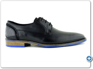 14754 Black Antic Inj Leather Sole Side