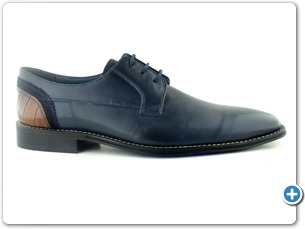 14754 Navy Antic Inj black Leather sole side