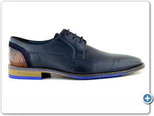14754 Navy Antic Inj Leather sole Side