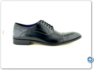 2225 Black Antic Inj Leather Sole Side