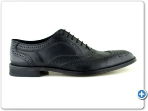 804 Black Antic Leather Sole Side