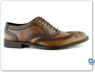 804 Brown Handpained Leather Sole Side