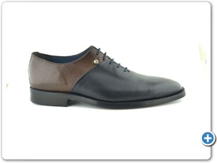 824 Navy-Bwon Inj. Leather Sole Side
