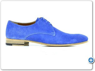 11406 S.Blue Suede Cognac Lining Leather Sole Side