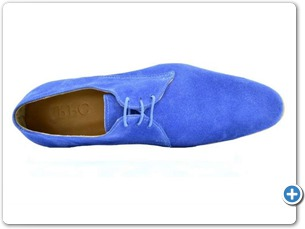 11406 S.Blue Suede Cognac Lining Leather Sole Top