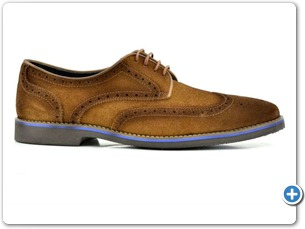 14738 Cognac Suede Anthracite Lining 50501 Brown Sole Side