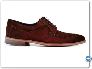 16804 Bordo Suede Anthracite Lining Leather Sole Side