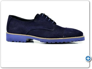 16806 Navy Suede Anthracite Lining 10021 Navy Sole Side