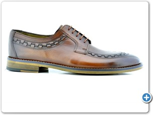 16816 Cognac HP Nat Calf Lining Leather Sole Side