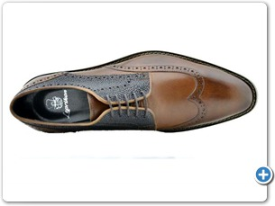 2203 Cognac Antic - Navy Meteor Anthracite Lining Leather Sole Top