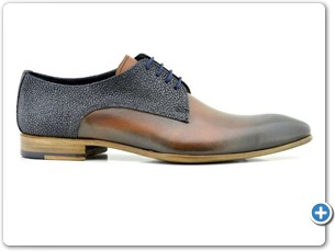 2220 Cognac HP-Navy Meteor Anthracite Lining Leather Sole Side